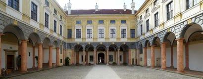 新生法院围场在兰茨胡特 库存图片