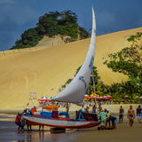 新生海滩的巴西-,北里约格朗德 图库摄影