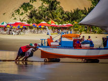 新生海滩的巴西-,北里约格朗德 免版税库存图片
