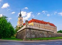 新生热舒夫城堡在好日子,波兰 图库摄影