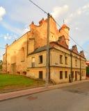 新生犹太教堂在莱斯科 免版税库存图片