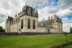 新生的全国Museun - Ecouen城堡 库存图片