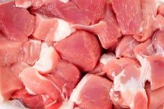 新鲜的生肉片断  免版税库存图片