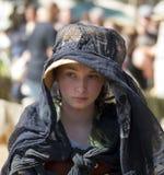 新生衣裳的女孩 免版税库存照片