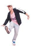 新男性舞蹈演员平衡 库存照片