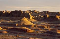 新疆日落的鬼魂城市 库存照片