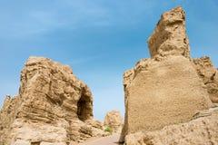新疆,中国- 2015年5月04日:站点Yar市(交河故城) 免版税库存照片