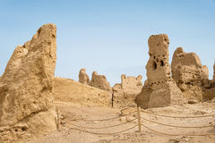 新疆,中国- 2015年5月04日:站点Yar市(交河故城) 库存照片