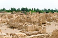 新疆,中国- 2015年5月04日:站点Yar市(交河故城) 库存图片