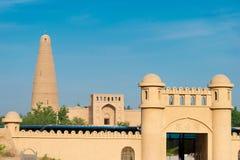 新疆,中国- 2015年5月03日:额敏尖塔(Sugongta) 一著名 免版税库存图片