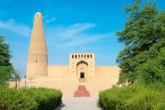 新疆,中国- 2015年5月03日:额敏尖塔(Sugongta) 一著名 库存图片
