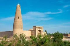 新疆,中国- 2015年5月03日:额敏尖塔(Sugongta) 一著名 图库摄影
