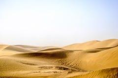 新疆,中国Taklimakan沙漠  免版税库存照片