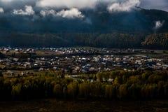 新疆Hemu村庄风景 免版税图库摄影