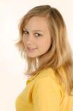 新白肤金发的女孩 免版税库存照片