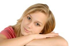 新白肤金发的女孩 免版税库存图片