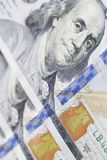 新的一百元钞票特写镜头 免版税库存图片