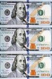 新的一百元钞票 库存照片