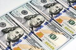 新的一百元钞票 免版税图库摄影