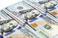 新的一百元钞票 免版税库存图片