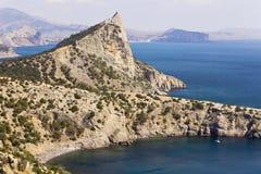 新的世界的海湾和岩石 免版税库存照片