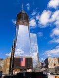 新的世界贸易中心的建筑在曼哈顿 库存照片