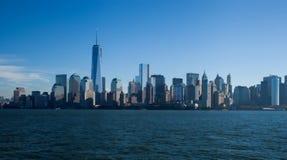 新的世界贸易中心在更低的曼哈顿 库存照片