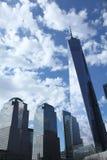 新的世界贸易中心在更低的曼哈顿 免版税库存照片