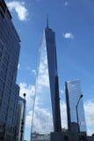新的世界贸易中心在更低的曼哈顿 图库摄影