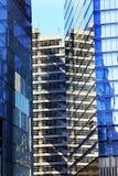 新的世界贸易中心摘要玻璃大厦摩天大楼纽约NY 库存照片