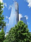 新的世界贸易中心的看法 库存照片