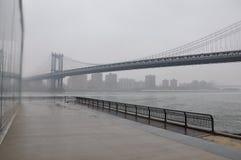 新的乔克曼哈顿桥梁 库存图片
