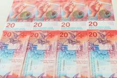 新的二十张瑞士法郎票据 免版税库存图片