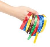 新的五颜六色的丝带 免版税库存照片