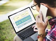 新的交易起步计划视觉目标概念 免版税图库摄影