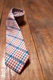 新的人的方格的领带 图库摄影