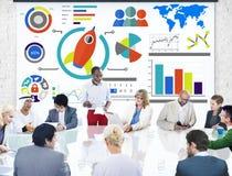 新的企业图创新配合全球企业概念 图库摄影