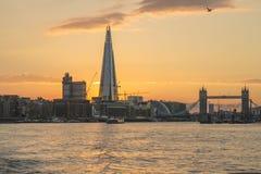 新的伦敦地平线 库存照片