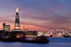新的伦敦地平线2013年 库存照片
