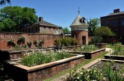 新的伯尔尼, NC :庭院和鸽房在Tryon宫殿 库存照片
