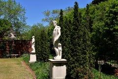 新的伯尔尼, NC :雕象在1770 Tryon宫殿 免版税库存图片