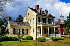 新的伯尔尼, NC :1795切口亚伦议院 免版税图库摄影