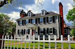 新的伯尔尼, NC :1767帕尔默Tisdale议院 免版税图库摄影