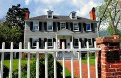 新的伯尔尼, NC :1767帕尔默Tisdale议院 库存照片