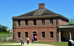 新的伯尔尼, NC :1770 Tryon宫殿厨房翼 库存照片