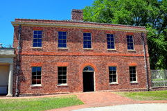 新的伯尔尼, NC :1770 Tryon宫殿槽枥 库存图片