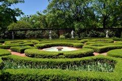 新的伯尔尼, NC :1770 Tryon宫殿结庭院 库存图片