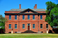 新的伯尔尼, NC :1770 Tryon宫殿 免版税库存图片