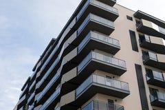 新的住宅区在布拉索夫,罗马尼亚 免版税库存照片