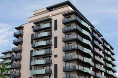 新的住宅区在布拉索夫,罗马尼亚 库存照片